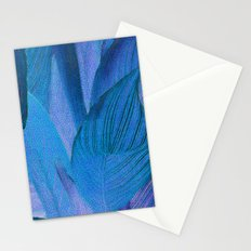 Exotic Leaves with Translucent Floral Pattern Stationery Cards