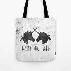 Ride or Die x Unicorns Tote Bag