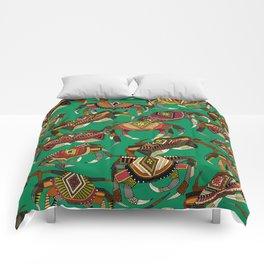 crabs green Comforters