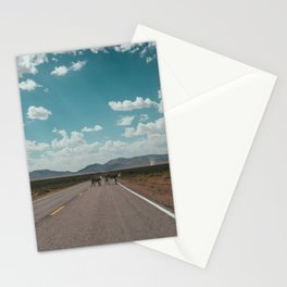 cows on the open road Stationery Cards