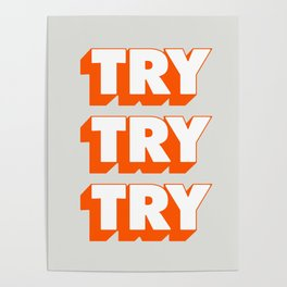 Try Try Try Poster