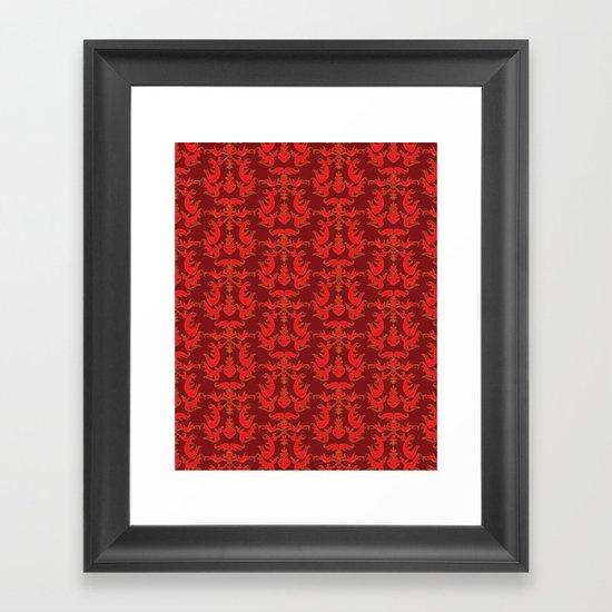 Rebecca Pattern Framed Art Print