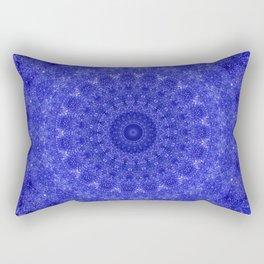 Cosmos Mandala II Cobalt Blue Rectangular Pillow