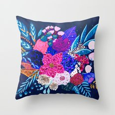 Jewel Bouquet Throw Pillow