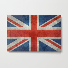"UK British Union Jack flag ""Bright"" retro Metal Print"