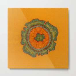 Growing -Taxus - embroidery based on plant cell under the microscope Metal Print