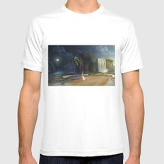 Paradise Mens Fitted Tee White MEDIUM