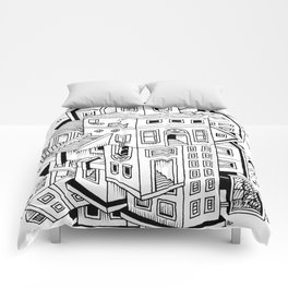 Impossible Buildings Comforters