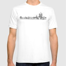 sketchy town Mens Fitted Tee MEDIUM White
