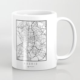 Madrid Spain Street Map Coffee Mug