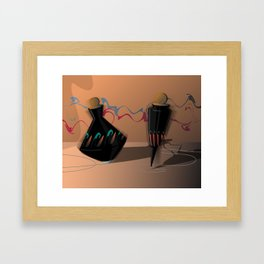 When Tops Dream of Dancing Framed Art Print
