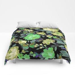 july roses & butterflies Comforters