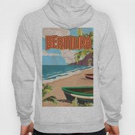 BERMUDA vintage vacation travel poster Hoody