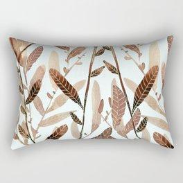 Autumn Nature Watercolor Rectangular Pillow