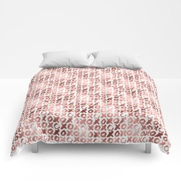 XOXO Kiss Me Rose Gold Pattern 2 Comforters