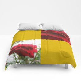 Red Rose with Light 1 Blank Q7F0 Comforters