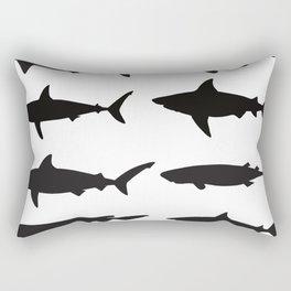 Shark Silhouettes Rectangular Pillow