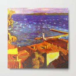 Saint Tropez, French Riviera, Côte d'Azur, France coastal landscape by Pierre Bonnard Metal Print