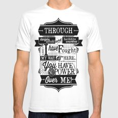 Labyrinth Quote You Have No Power Over Me White MEDIUM Mens Fitted Tee