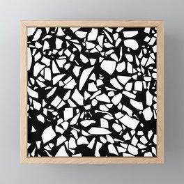 Terrazzo White on Black Framed Mini Art Print