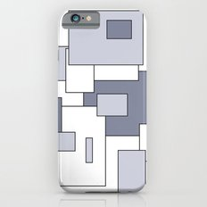 Squares - white and gray. iPhone 6s Slim Case