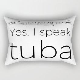 Tuba rests (white) Rectangular Pillow