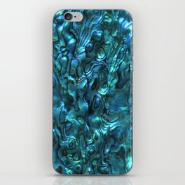Abalone Shell | Paua Shell | Cyan Blue Tint iPhone Skin