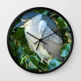 Sleeping Heron Wall Clock