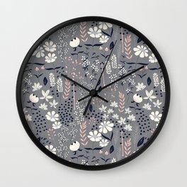 Flower garden 003 Wall Clock