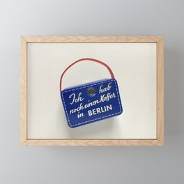 Ich hab noch einen Koffer in Berlin Framed Mini Art Print