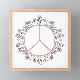 Peace and Love in Bloom Framed Mini Art Print