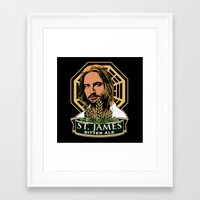 ale giorgini Framed Art Prints featuring St. James Bitter Ale by Ant Atomic