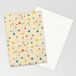 Mid-Century Dots Pattern Stationery Cards