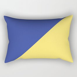 Modern royal blue sunshine yellow trendy color block Rectangular Pillow