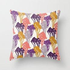 Arboreal Silhouettes Throw Pillow