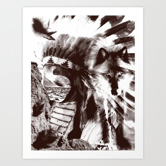 native wolf  Art Print
