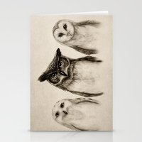 always Stationery Cards featuring The Owl's 3 by Isaiah K. Stephens
