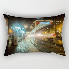 Portland Night Train Rectangular Pillow