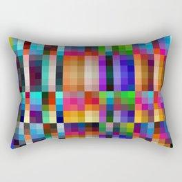 "Colorful Neon Geometric ""Nareni"" Rectangular Pillow"