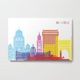 Mumbai skyline pop Metal Print