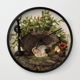 Cute sleeping Angel Wall Clock