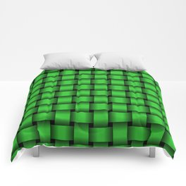 Lime Green Weave Comforters