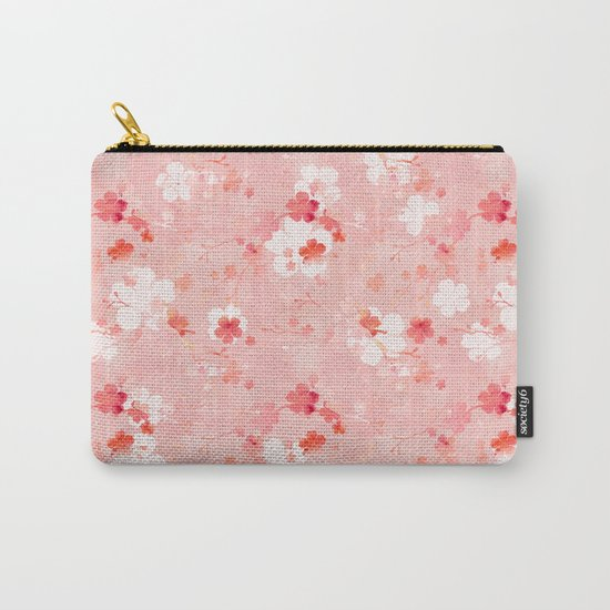 Peach pink Chinese cherry blossom by adenajdesign