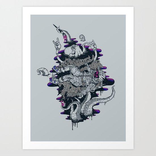 Liquid journey Art Print