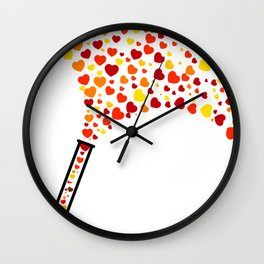 Chic Preppy Chic Test Tube Hearts Wall Clock
