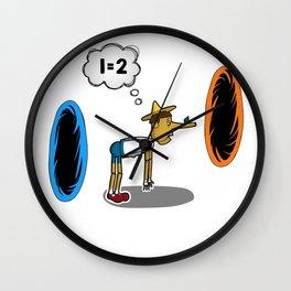 Pinocchio playing Portal Wall Clock