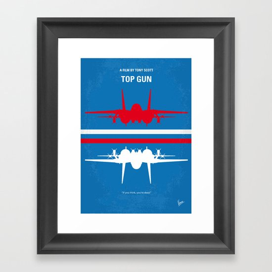 No128 My TOP GUN minimal movie poster Framed Art Print