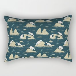 Go North - Navy Rectangular Pillow