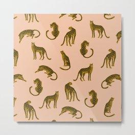 Blush Leopard Pattern Metal Print