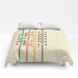 Mid Century Modern Daddy-O (gold) Comforters